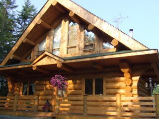 Magnifique maison de bois rond scandinave bord de lac - Maison scandinave en bois ...